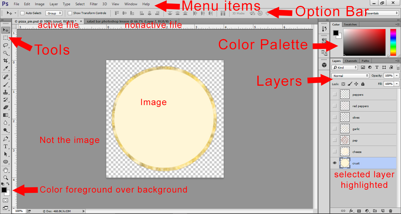Photoshop Layers Lesson - Photoshop Workspace